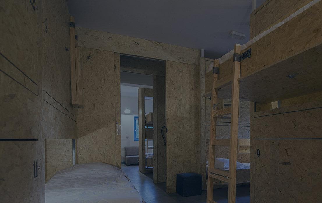 Dorms - 4, 6, 8, 10, 12 beds
